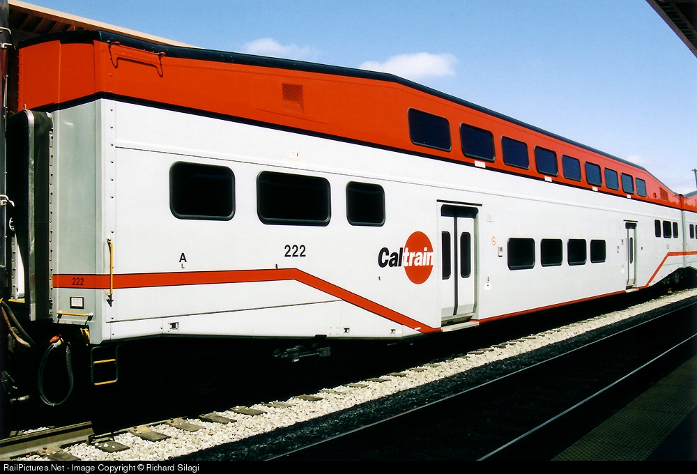 caltrain bombardiers coupled two of s bombardier bilevel cars. Black Bedroom Furniture Sets. Home Design Ideas
