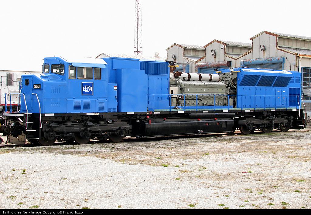 Locomotive details for Electro motive division of general motors