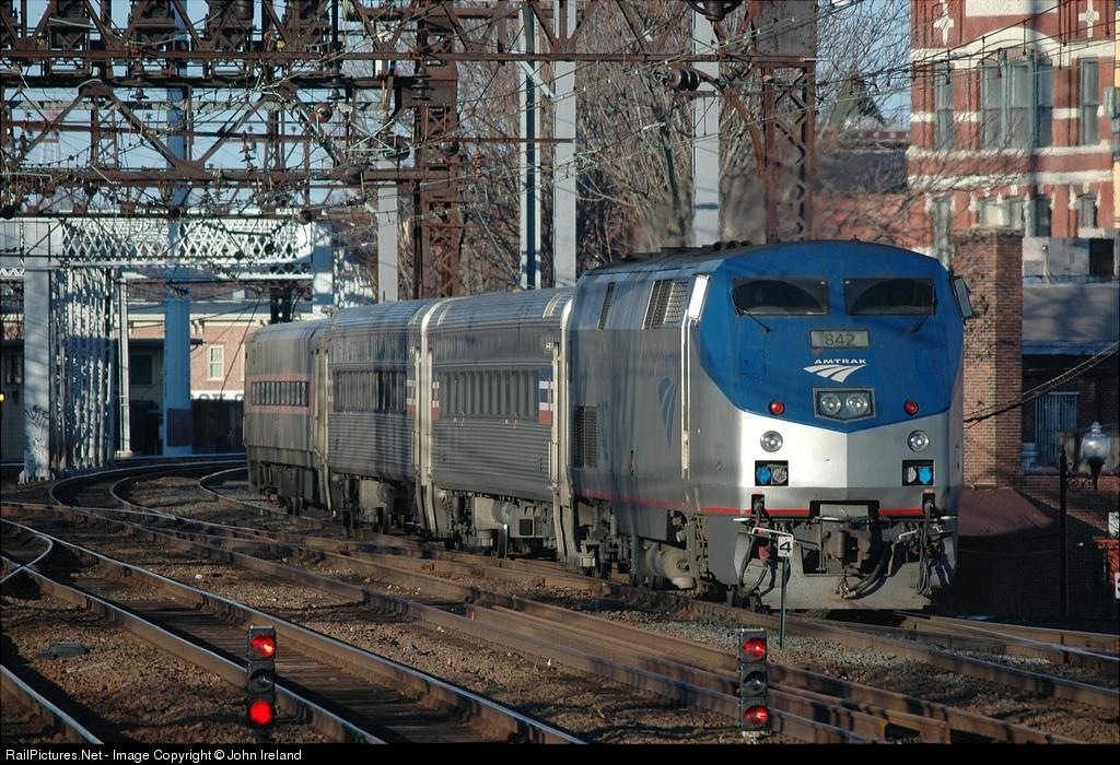 RailPictures.Net Photo: AMTK 842 Amtrak GE P40DC at South Norwalk ...