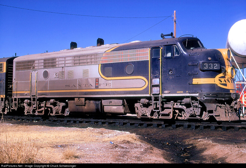 Railpictures Net Photo Atsf 332 Atchison Topeka Santa Fe Atsf Emd F7 A At Hamlin Texas By Chuck Schwesinger
