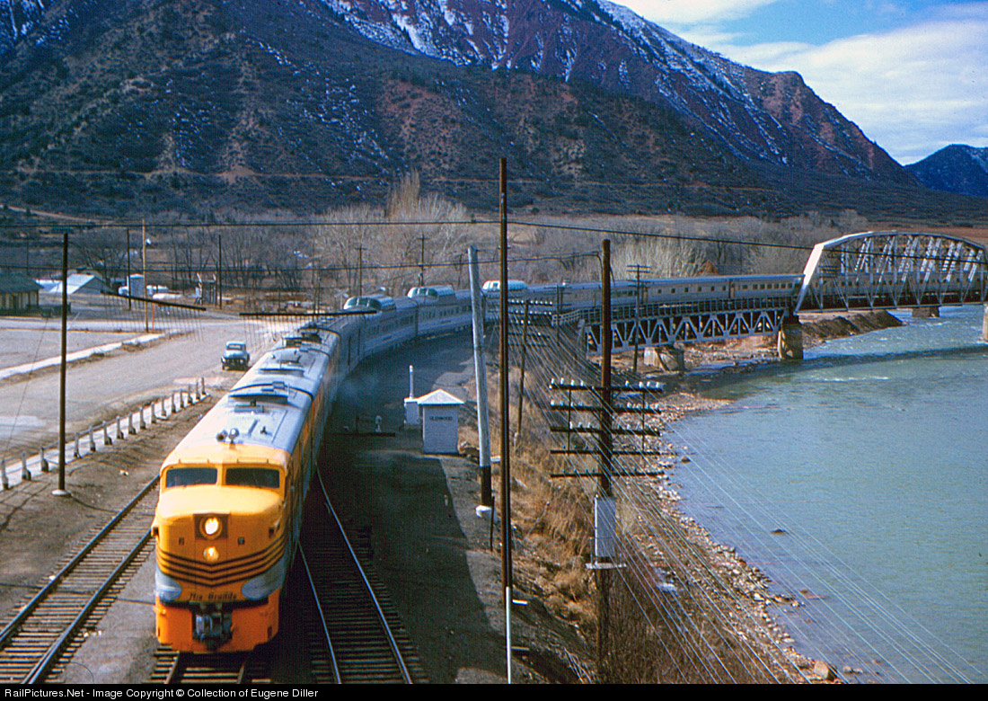 Train to colorado from pa - Net Photo Denver Rio Grande Western Railroad Alco Pa 1 At Glenwood Springs Colorado By Collection Of Eugene Diller