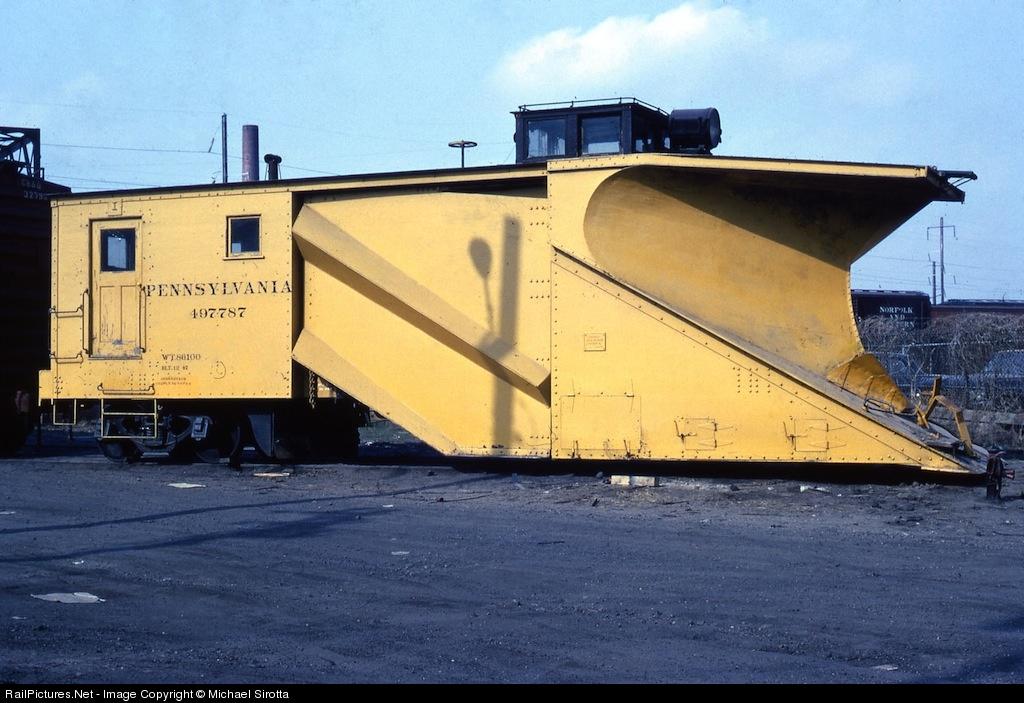 Plow on railroad