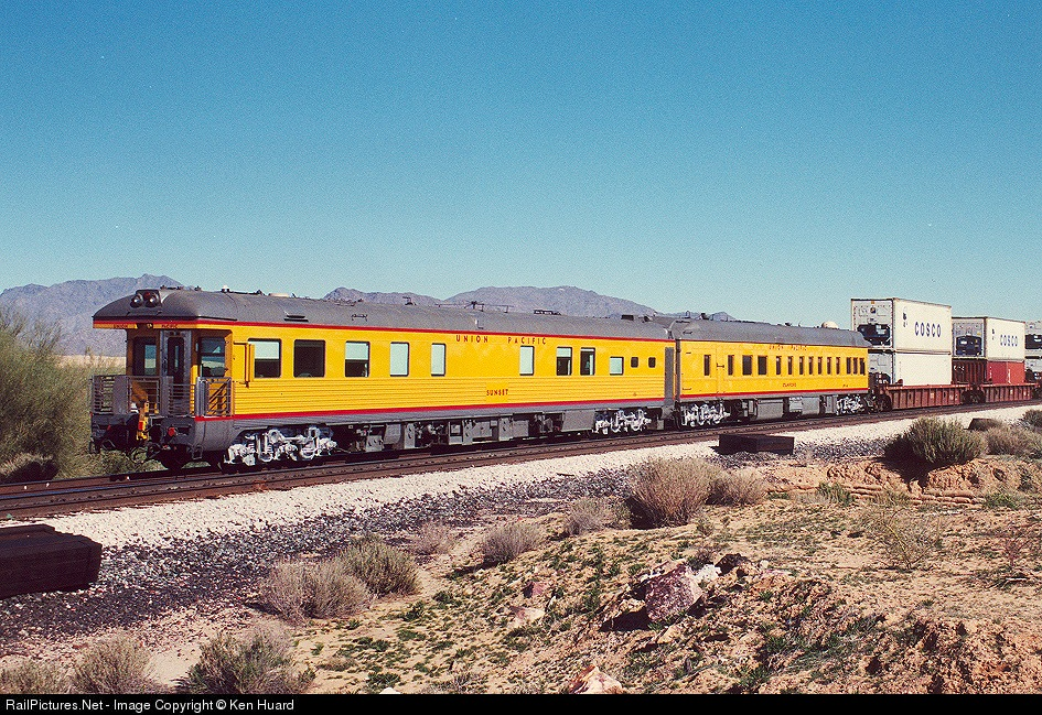 Photo Up Sunset Union Pacific Up Business Car At