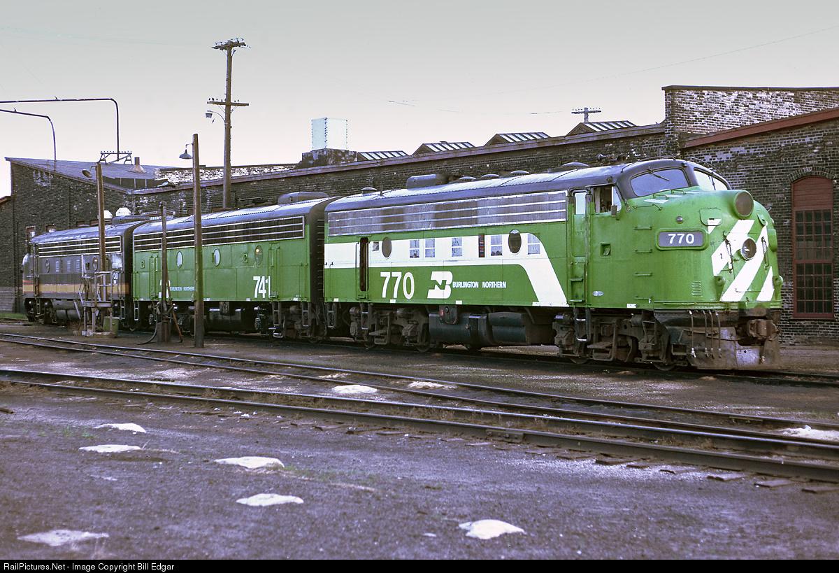 RailPictures.Net Photo: BN 770 Burlington Northern Railroad EMD F9(A ...