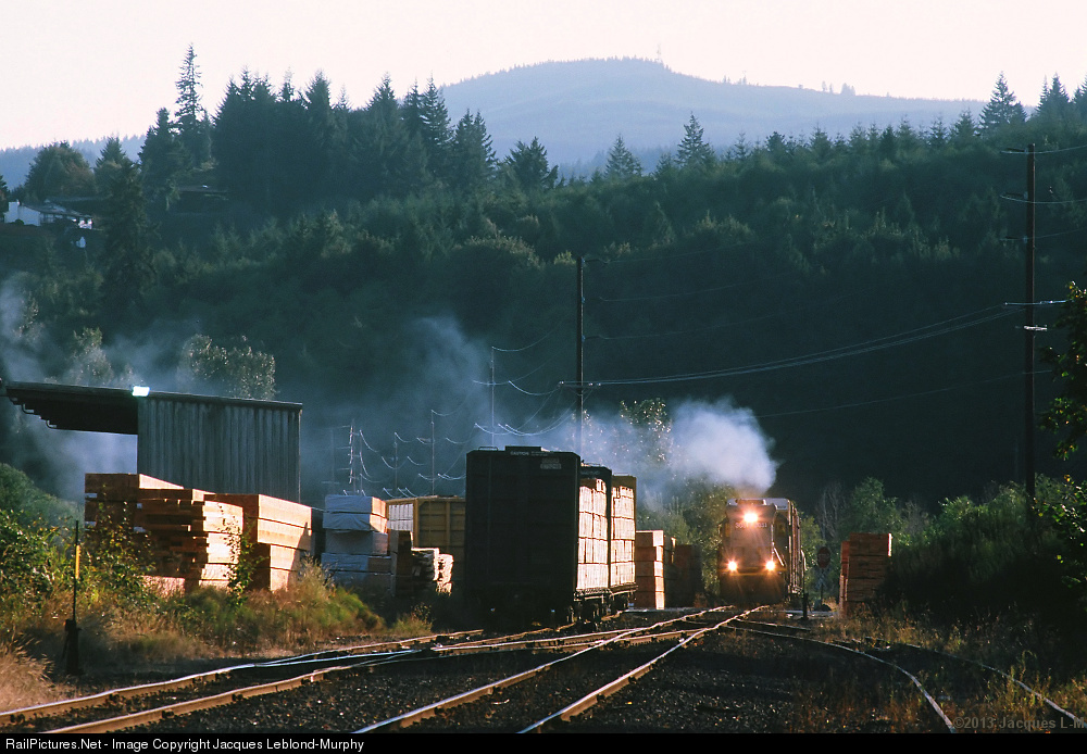 Clatskanie Oregon Map Railroad Emd Sd40 3 at Clatskanie Oregon by Jacques Leblond Murphy